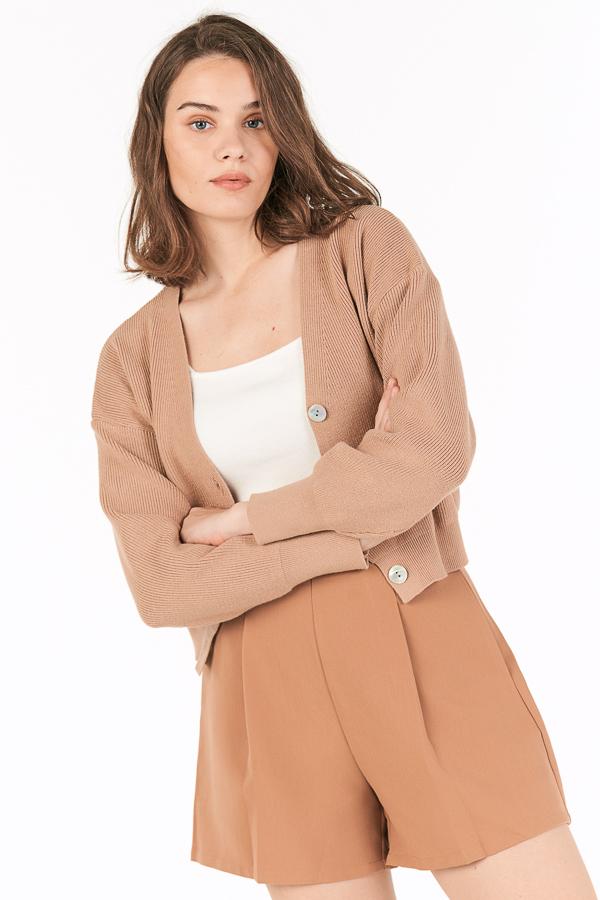 *Backorder 2* Eden Knitted Cardigan in Maple