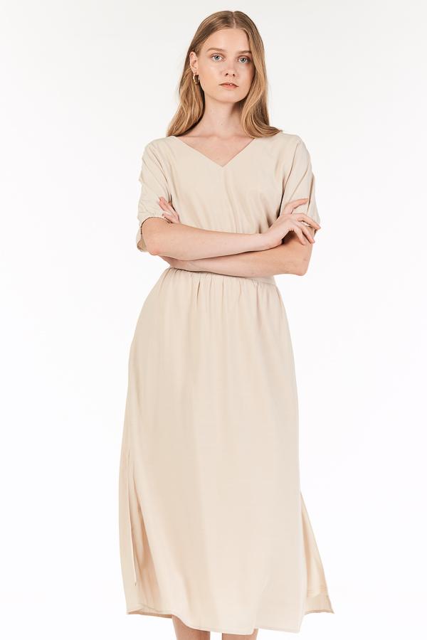 Flonn Midi Skirt in Cream