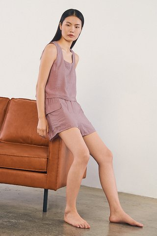 Allie Pocket Shorts in Lavender