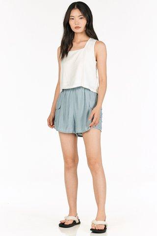 Allie Pocket Shorts in Slate Blue