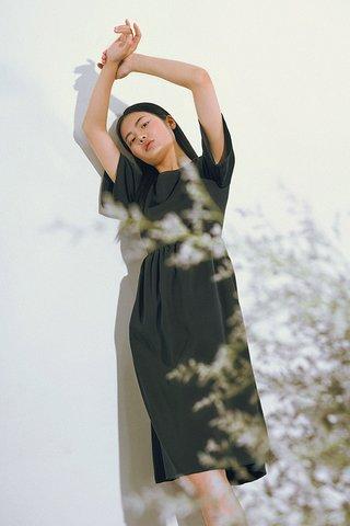Betty Midi Dress in Forest