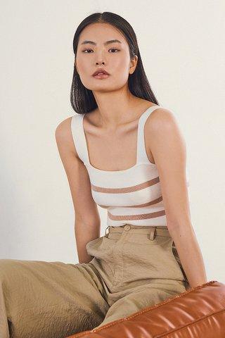 Brea Stripes Knitted Top in Mocha