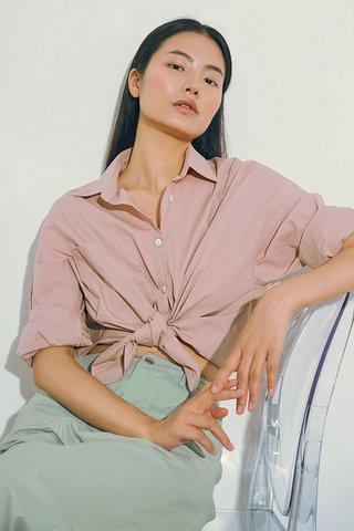 *Backorder* Cooper Oversized Shirt in Pink
