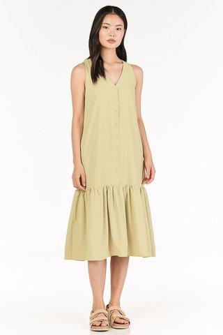 Galyna Midi Dress in Pear