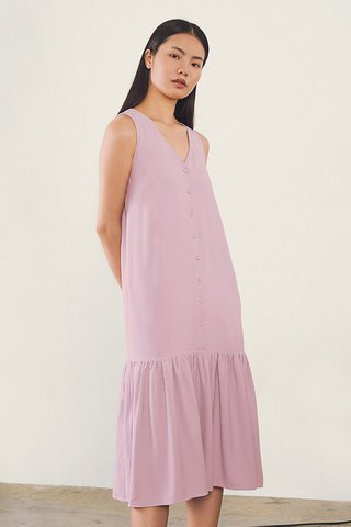 Galyna Midi Dress in Pink Lilac