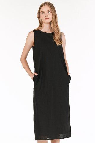 Kaylee Two Way Midi Dress in Black