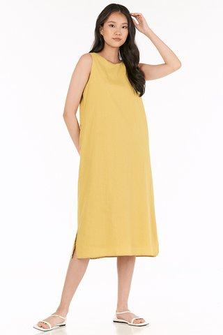 Kaylee Two Way Midi Dress in Daffodil