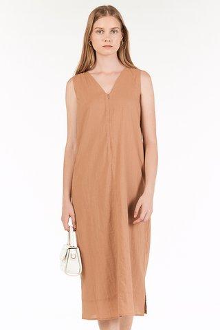 Kaylee Two Way Midi Dress in Maple