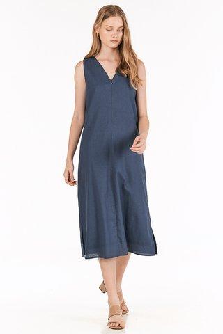 Kaylee Two Way Midi Dress in Navy