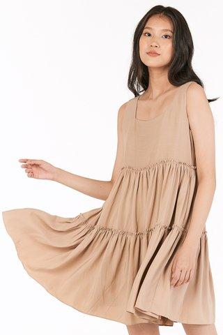 Lola Babydoll Dress in Khaki