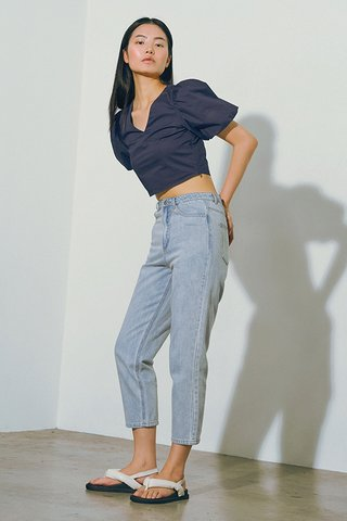 Rayla Cropped Top in Navy