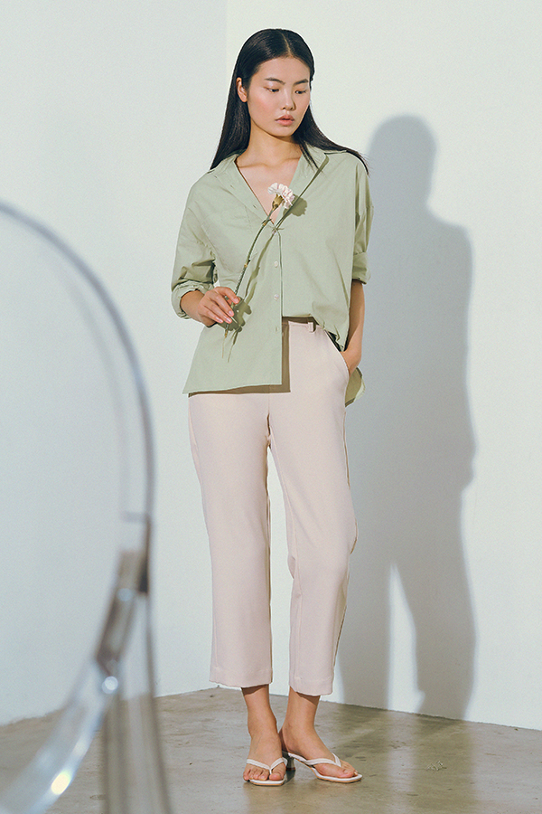 Cooper Oversized Shirt in Sage