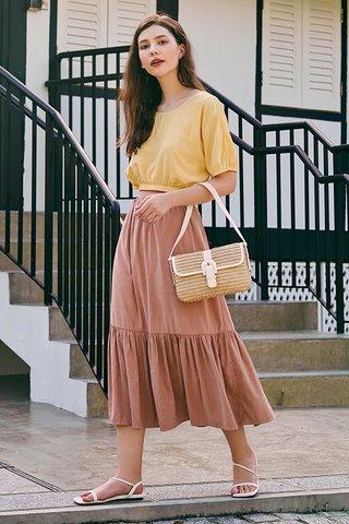 Airin Midi Skirt in Dusty Pink