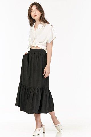 Airin Midi Skirt in Black