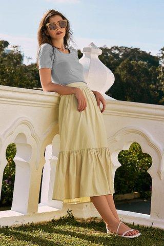 Airin Midi Skirt in Buttermilk