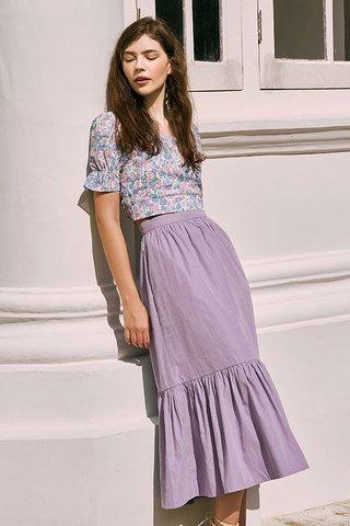 Airin Midi Skirt in Lilac