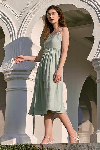 Elesia Midi Dress in Mint