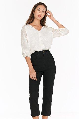 *Backorder* Keeren Cropped Jeans in Black