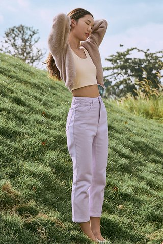 Keeren Cropped Jeans in Lilac
