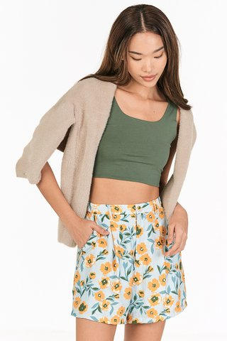 Tova Two Way Top in Moss
