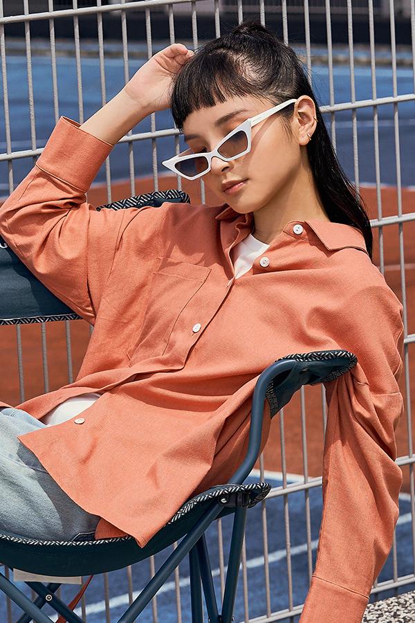 *Restock* Cooper Oversized Linen Shirt in Sunkiss