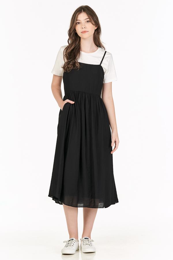 Elesia Midi Dress in Black