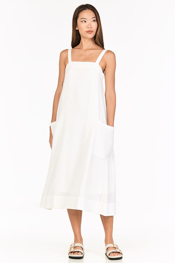 Luke Midi Dress in White