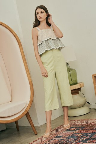 Ford Linen Culottes in Apple Green