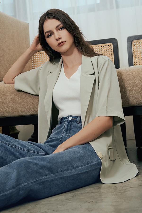 Tyara Knit Top in White