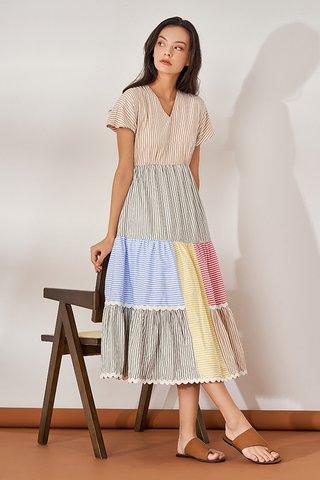 Kondi Stripes Midi Dress