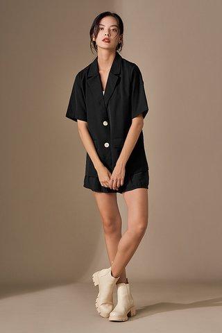*Backorder* Kyran Short Sleeve Blazer in Black