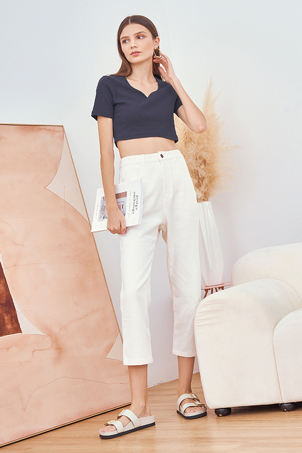 Keeren Cropped Jeans in White